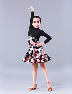 Balli latino-americani Vestiti Da ragazza Addestramento Prestazioni Fibra  di latte A fantasia   stampa Più materiali Manica lunga Naturale bf94a10b57e