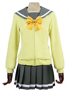"""billige Anime Kostymer-Inspirert av Elsker live Andre Anime  """"Cosplay-kostymer"""" Cosplay Klær Annen Langermet Halsklut Frakk Topp Skjørte Sokker Til Herre Dame"""