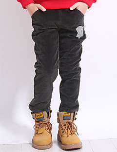 billige Drengebukser-Drenge Bukser Daglig Geometrisk, Polyester Forår Simple Mørkegrå