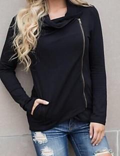 tanie Damskie bluzy z kapturem-Damskie Bawełna Długi rękaw Szczupła Długi activewear Set - Jendolity kolor W serek