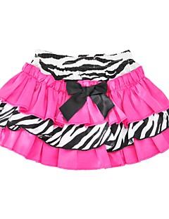 cheap Girls' Clothing-Girls' Daily Holiday Animal Print Skirt, Cotton Polyester Spring Summer Half Sleeves Cute Blushing Pink