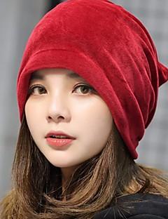 billige Trendy hatter-Dame Vintage Solhatt Ensfarget