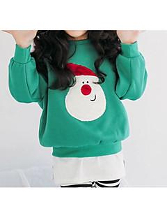 billige Hættetrøjer og sweatshirts til piger-Pige Hættetrøje og sweatshirt Daglig Geometrisk, Bomuld Forår Langærmet Simple Grøn Rød