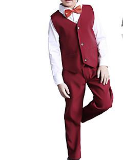 tanie Odzież dla chłopców-Dla chłopców Codzienny Jendolity kolor Komplet odzieży, Bawełna Poliester Wiosna Długi rękaw Urocza Niebieski Black Czerwony Gray