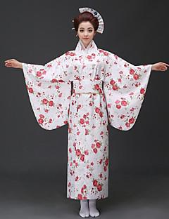tanie Etniczne & Cultural Kostiumy-Cosplay Sukienki / Kimono Damskie Festiwal/Święto Kostiumy na Halloween niebieski / Różowy / Czerwony Kwiatowy / roślinny Kimona