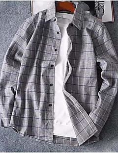 お買い得  メンズシャツ-男性用 ベーシック シャツ ストライプ