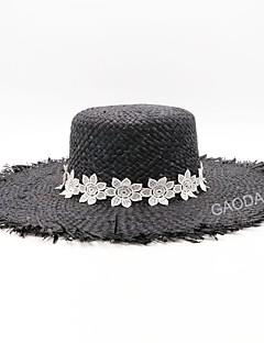 billige Trendy hatter-Dame Stråhatt - Netting, Jacquardvevnad / Søtt / Sommer