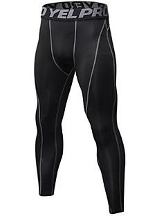 billiga Träning-, jogging- och yogakläder-Herr Tights för jogging - svart / silver, Svart / röd, Svart / grön sporter Cykling Tights Sportkläder Lättvikt, Snabb tork, Anatomisk