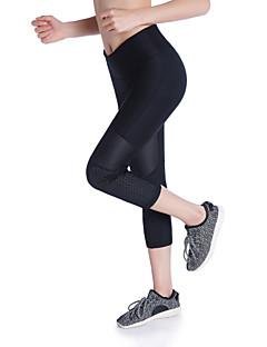 billiga Träning-, jogging- och yogakläder-Dam Yoga byxor sporter Färgat garn Elastan 3/4 Strumpbyxor Gym Sportkläder Tränare, Yoga, Snabb tork Hög Elasisitet