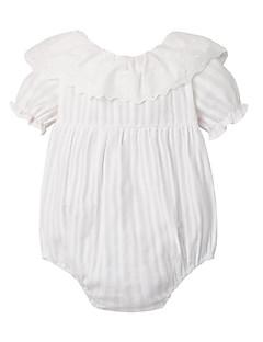 billige Babytøj-Baby Pige En del Daglig Sport Ensfarvet, Bomuld Polyester Sommer Kort Ærme Sødt Aktiv Hvid Lyserød