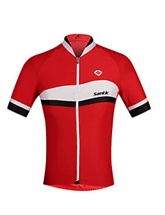billige Sykkeljerseys-SANTIC Herre Kortermet Sykkeljersey - Rød Blå Sykkel Jersey