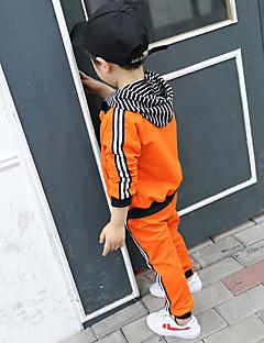 billige Tøjsæt til drenge-Børn Baby Drenge Simple Stribet Langærmet Bomuld Tøjsæt