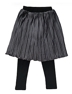 billige Pigenederdele-Pige Nederdel Daglig Ensfarvet, Polyester Forår Simple Grå