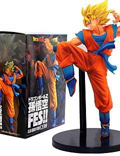 billige Anime cosplay-Anime Action Figurer Inspirert av Dragon Ball Son Goku PVC 24 CM Modell Leker Dukke