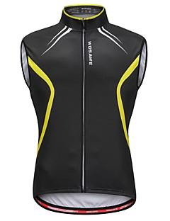 Χαμηλού Κόστους Γιλέκα Ποδηλασίας-WOSAWE Ανδρικά Αμάνικο Γιλέκο ποδηλασίας - Μαύρο / Κίτρινο Ποδήλατο Γιλέκο / Αθλητική μπλούζα, Αντανακλαστικές Λωρίδες, Anti Transpirație