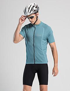 billige Sykkelklær-Jaggad Herre Kortermet Sykkeljersey - Blå Helfarge Sykkel Jersey, Fort Tørring