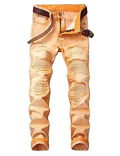 billige Herrebukser og -shorts-Herre Punk & Gotisk Gatemote Chinos Jeans Bukser Stripet