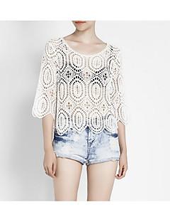 billige Skjorte-Dame - Ensfarvet, Blonder Gade Skjorte