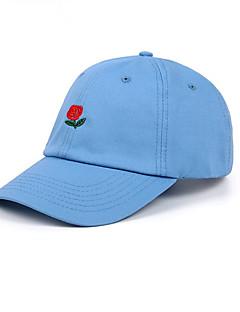 billige Hatter til damer-Unisex Grunnleggende Baseballcaps / Solhatt - Grunnleggende, Ensfarget / Blomstret Bomull / Sommer