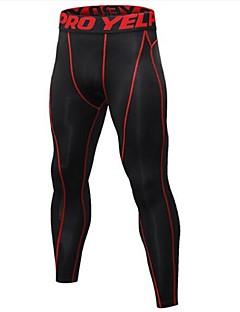 billiga Träning-, jogging- och yogakläder-Herr 1st Tights för jogging - svart / silver, Svart / röd, Svart / grön sporter Cykling Tights Fitness, Gym, Träna Sportkläder Lättvikt, Snabb tork, Anatomisk design Elastisk