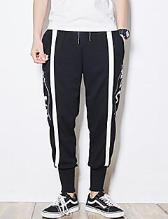 billige Herrebukser og -shorts-Herre Løstsittende Jeans Bukser - Trykt mønster, Bokstaver