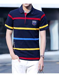 お買い得  メンズポロシャツ-男性用 Polo 活発的 シャツカラー 縞柄