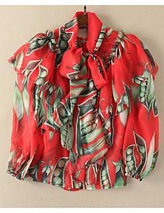 billige Bluse-Dame-Blomstret Sødt Bluse