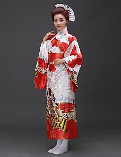 tanie Etniczne & Cultural Kostiumy-Cosplay Sukienki / Kimono Damskie Festiwal/Święto Kostiumy na Halloween niebieski / Różowy / Czerwony Osoba Kimona / Tradycyjny / Classic