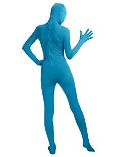 billige Zentai-Zentai Drakter Zentai Cosplay-kostymer Mote Brun / Blå / Rosa Ensfarget Mote Zentai Lycra® Herre Dame Halloween Karneval Maskerade / Høy Elastisitet