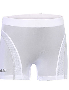 cheap Cycling Clothing-SANTIC Women's Cycling Under Shorts White Solid Colored Bike Boyshorts Polyester Bike Wear