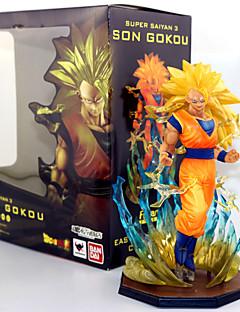 billige Anime cosplay-Anime Action Figurer Inspirert av Dragon Ball Son Goku PVC 17 CM Modell Leker Dukke