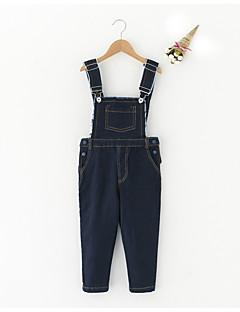 tanie Odzież dla dziewczynek-Ogrodniczki / kombinezon Poliester Dla dziewczynek Jendolity kolor Wiosna Lato Niebieski White
