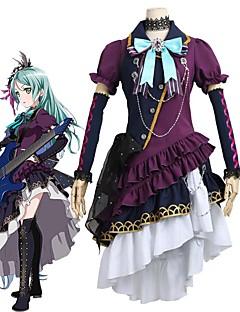 """billige Anime Kostymer-Inspirert av BanG Dream Cosplay Anime  """"Cosplay-kostymer"""" Cosplay Klær Annen Kortermet Halsklut Kjole Mer Tilbehør Hodeplagg Til Herre"""