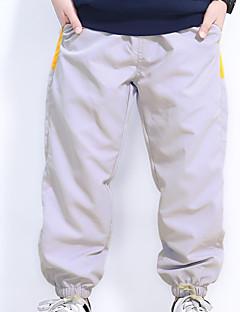 billige Drengebukser-Drenge Bukser Ensfarvet Forår Lysegrå