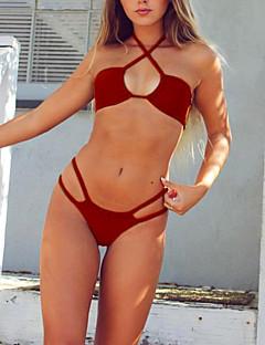 billige Bikinier og damemote 2017-Dame Grime Bikini - Grunnleggende Helfarge