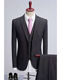 cheap Suits-Gray Dots Standard Fit Polyester Suit - Peak Single Breasted Two-buttons