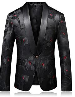 billige Herremote og klær-Jacquard Blazer-Blomstret Forretning Chinoiserie Herre