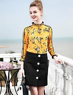 billige Dametopper-Skjorte Dame-Dyr,Trykt mønster Forretning Vintage
