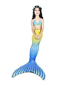 povoljno -The Little Mermaid Bikini Kupaći kostimi Halloween Karneval Dječji dan Festival / Praznik Halloween kostime Bijela Sirena Slatko novi