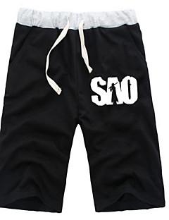 """billige Anime Kostymer-Inspirert av Sword Art Online SAO Kirito Swordman Anime  """"Cosplay-kostymer"""" Cosplay Topper / Underdele Ensfarget Animé ½ Pant Shorts Til"""