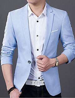 billige Herremote og klær-Blazer - Ensfarget Enkel Vintage Herre