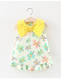 billige Babykjoler-Baby Blomstret Uden ærmer Bomuld / Polyester Kjole