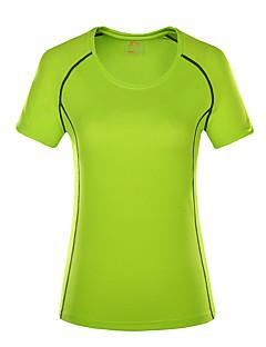 baratos Camisetas para Trilhas-Mulheres Camiseta de Trilha Ao ar livre Secagem Rápida Redutor de Suor Respirabilidade Camiseta N/D Acampar e Caminhar Exercicio Exterior