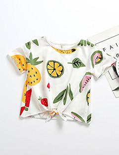 billige Babyoverdele-Baby Pige Geometrisk Frugt Kortærmet T-shirt