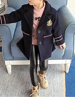 tanie Odzież dla dziewczynek-Kurtka / płaszcz Poliwęglan Bawełna Dla dziewczynek Navy Blue