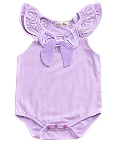 billige Babytøj-Baby Unisex En del Daglig Ferie Ensfarvet, Bomuld Sommer Uden ærmer Sødt Hvid Lyserød Lilla Vin Marineblå