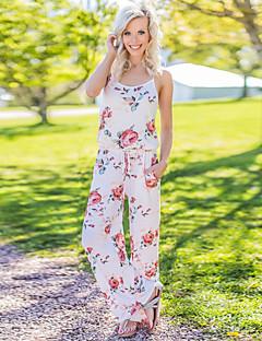... Wide Leg Floral Party   Daily Street chic Strap Wine Khaki Royal Blue  Harem Jumpsuit 540a00612