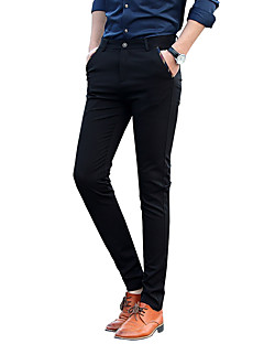 billige Herrebukser og -shorts-Herre Forretning Grunnleggende Dressbukser Bukser Ensfarget
