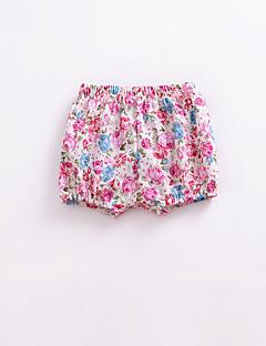 billige Bukser og leggings til piger-Blomstret Pigens Daglig Polyester Sommer Kjole Sødt Aktiv Blå Sort Lyserød Lilla