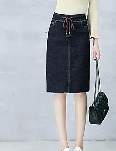 Women's Basic Pencil A Line Skirts - Solid Colored